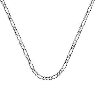 """14k לבן זהב 3.2 מ""""מ קימור שרשרת פיגארו לובסטר לנעול הסגר תכשיטים מתנות לנשים-אורך: 18 עד 24"""