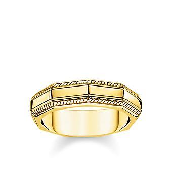 Thomas Sabo Yellow Gold Angular Band Ring Tr2276-413-39