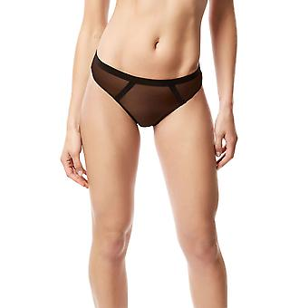 Bluebella 40150 Women's Karolina Black Panty Thong