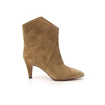 Isabel Marant 20pbo046620p011s90be Women's Beige Suede Ankle Boots