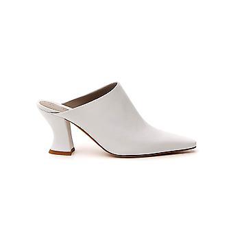 Bottega Veneta 608838vbsd09122 Dames's Witte Leren Slippers