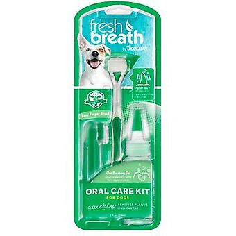 TropiClean Fresh Breath Kit de Higiene Dental para perros pequeños 59 ml