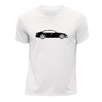STUFF4 Pojan Pyöreä kaula T-paita/kaavain auton Art / RS7/valkoinen