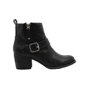 Madden Girl Womens Fibi Cuir Almond Toe Ankle Fashion Boots