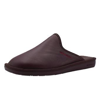 Nordikas 131 Norwood Men's Luxury Leather Slippers In Burgundy