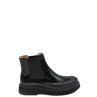 Tod's Ezbc025106 Women's Black Leather Ankle Boots