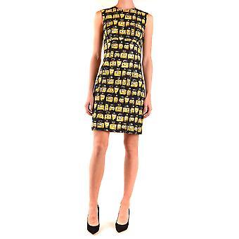 Boutique Moschino Ezbc170026 Women's Yellow/black Cotton Dress