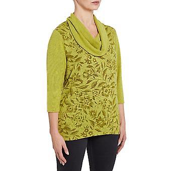 TIGI Lime Jungle Print Cowl Neck