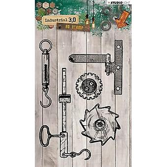 Studio Light A6 Clear Stamp – Industrial 3.0 – Number 317