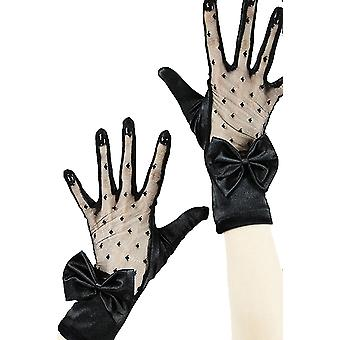 Restyle - black lace & bow - gloves