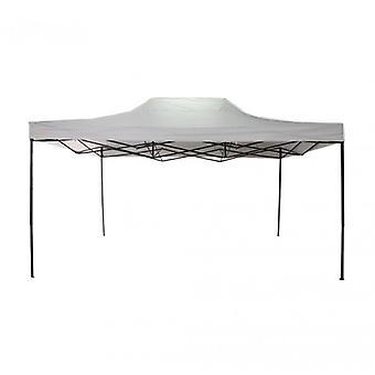 Möbel Rebecca Gazebo Wiederverschließbare weiß Metall Polyester Fall 3x4.5
