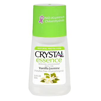 Crystal essence roll-on deodorant, vanilla jasmine, 2.25 oz
