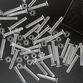 50 x Clara Cabeça Cruzada Contraaçada Porcas, aradoras, parafusos, M3 x 20mm