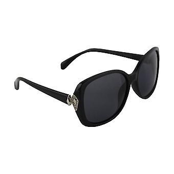 Solglasögon Women Polaroid Rektangulär - Svart/Silver med brillenkokerS332_3