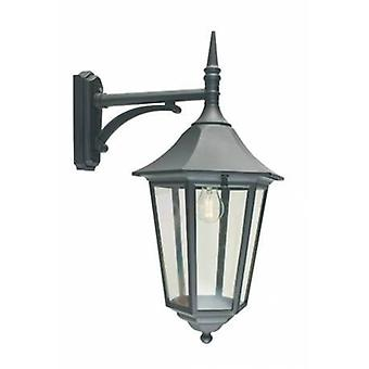 1 Light Outdoor Wall Lantern Light Black Ip54