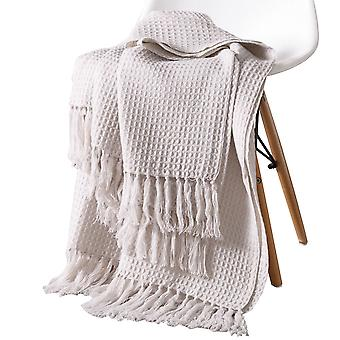 ठोस रंग ऐक्रेलिक वफ़ल बुना हुआ लटकन कंबल
