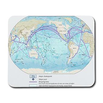 World's Sea Map Mouse Pad