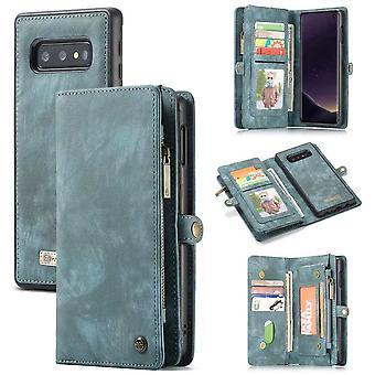CaseMe Vintage Wallet Case Hoesje Samsung Galaxy S10e - Groen