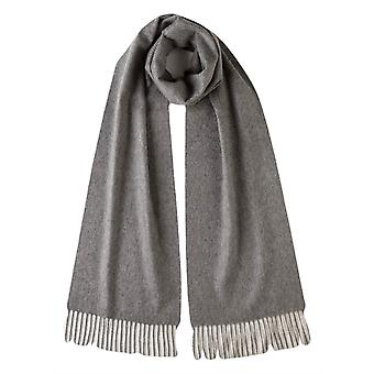 Johnstons of Elgin Plain Woven Cashmere Scarf - Granite Grey