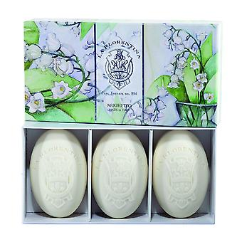 La Florentina Lily of the Valley 3 Bars Soap 150 g