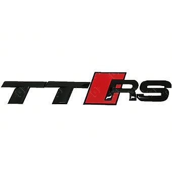 Black/Red Audi TT RS Boot Badge Emblem Lettering 190mm x 35mm