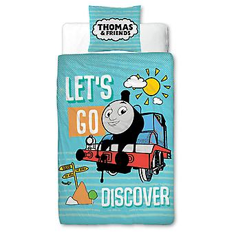 Thomas & Friends Ontdekken 4 in 1 Junior Bedding Bundle Set (Dekbed,