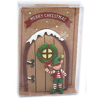 Zauberhafte Elfe Tür Weihnachtsdekoration - rote Tür