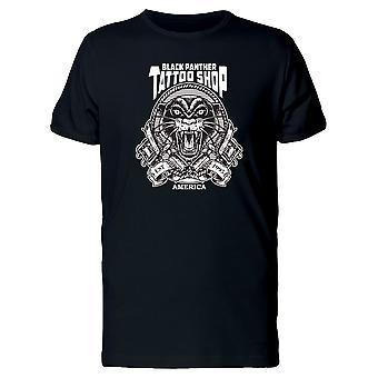Schwarze Panther Tattoo Shop T-Shirt Herren-Bild von Shutterstock