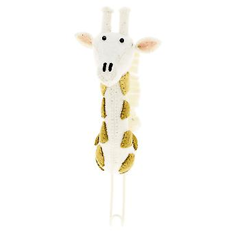 Fiona Walker England Felt Giraffe Head With Tonal Spots Coat Hook