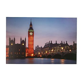 Jandei LED frame met 8 LED van Londense Big-Ben tower 60 x 40 2 AA batterijen