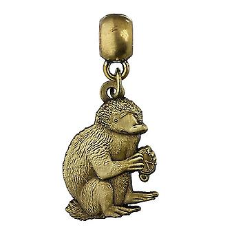 Fantastic Beasts Brass Plated Niffler Slider Charm