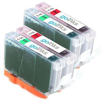 Piros és zöld tintapatronok a Canon CLI-8R és CLI-8G kompatibilis/nem OEM-kompatibilis/nem OEM-k helyére a Go inks (4 festékek)