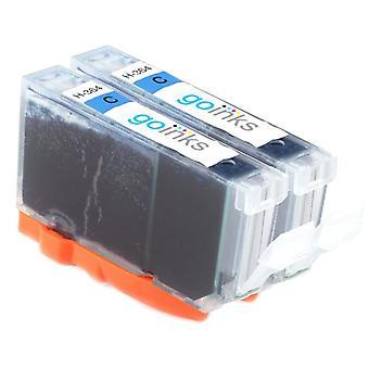 2 syaani yhteensopiva HP 364C (HP364XL) -mustekasettia