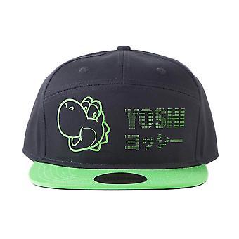 Super Mario Yoshi Dots Black Snapback Cap
