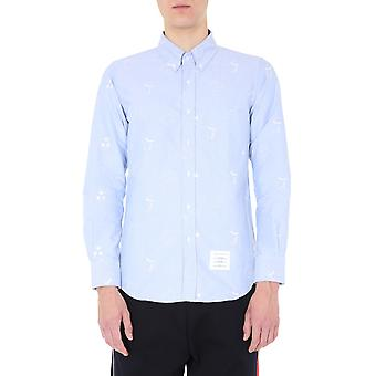 Thom Browne Mwl272a05035450 Men's Light Blue Katoen Shirt
