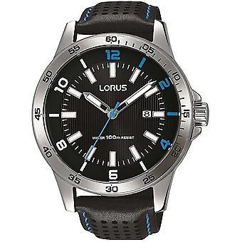 Reloj de pulsera Lorus RH919GX-9 correa de cuero negro