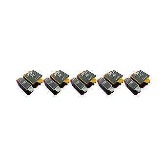 RudyTwos 5x Replacement for Kodak 10B 10C Set Ink Unit Black & Tri-Colour Compatible with ESP 3, ESP 5, ESP 7, ESP 9, ESP 3200, ESP 3250, ESP 5000, ESP 5100, ESP 5200, ESP 5210, ESP 5250, ESP 5300, ES