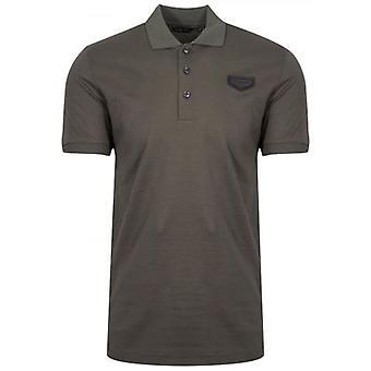 Antony Morato Khaki Patch Logo Polo Shirt