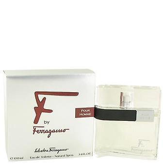 F Eau De Toilette Spray By Salvatore Ferragamo 3.4 oz Eau De Toilette Spray