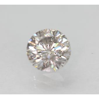 Cert 0.59 Carat Fancy Silver SI2 Round Brilliant Enhanced Natural Diamond 5.31mm
