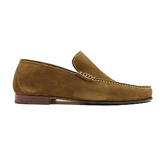 Loake Nicholson Brown Suede Leather Mens Moccasin Chaussures