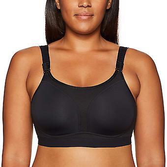 Arabella Women's No Wire Sport Bra, Black, 38D