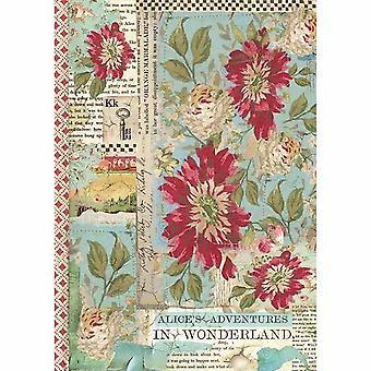 Рисовая бумага A4 Алиса Красный цветок (DFSA4351)