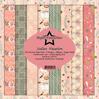 Paper Favourites Italian Vacation 12x12 Inch Paper Pack