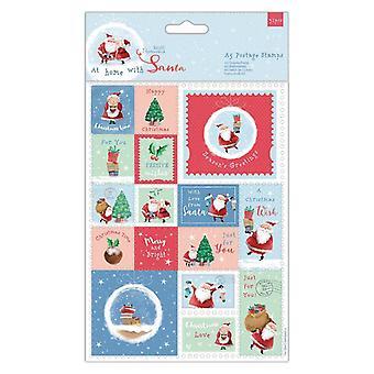 Papermania a casa con francobolli Di Babbo Natale A5