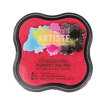 Docrafts Pearlescent الصباغ الحبر وسادة - الوردي لينة
