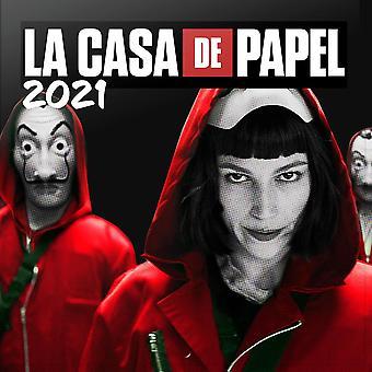La Casa de Papel Kalender 2021 House of Money Officiële Kalender 2021, 12 maanden, originele Engelse versie.