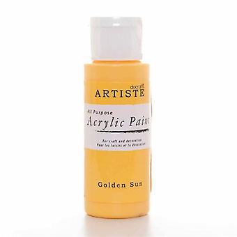 Peinture acrylique Docrafts (2oz) - Golden Sun (DOA 763206)