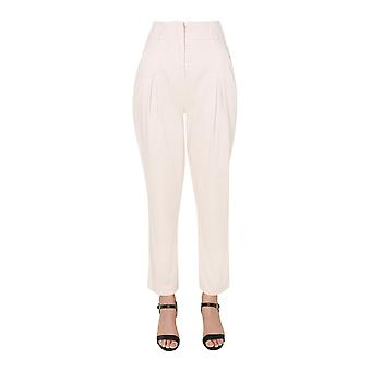 Alberta Ferretti 032266803 Women's White Cotton Pants