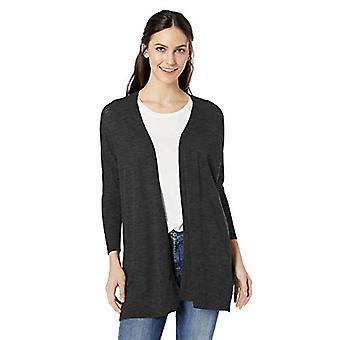 Marca - Daily Ritual Women's Lightweight Cocoon Sweater, Black, Small